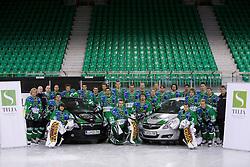 Group photo of HDD Tilia Olimpija before new season 2008/2009,  on September 17, 2008 in Arena Tivoli, Ljubljana, Slovenia. (Photo by Vid Ponikvar / Sportal Images)