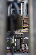 Berlin, Germany - 08.06.2016<br /> <br /> Protest against evictions and real estate speculation at the German Real Estate Day 2016 in Berlin. Activists stormed the foyer of the conference afterwards protestors try to block the evening event at the Berlin City Palace. <br /> <br /> Protest gegen Zwangsraeumungen und Immobilienspekulationen beim Deutschen Immobilientag 2016 in Berlin. Aktivisten stürmten das Foyer des Tagungsortes und versuchten eine Abendveranstaltung im Berliner Stadtschloss zu blockieren.<br /> <br /> Photo: Bjoern Kietzmann