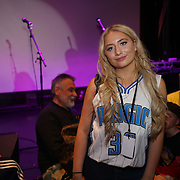 London,England,UK. 14th May 2017. Saffron Barker is a youtube make up artist attends the after party of the BBL Play-Off Finals also fundraising for Hoops Aid 2017 but also a major fundraising opportunity for the Sports Traider Charity at London's O2 Arena, UK. by See Li