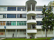 27 DECEMBER 2016 - SINGAPORE: Public housing in the Tiong Bahru area of Singapore. The housing in the area was built after World War II, when Singapore was still a British colony.        PHOTO BY JACK KURTZ