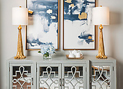 Still life photography of interior design elements and decor