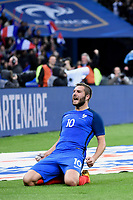 Andre Pierre Gignac celebrates scoring the second goal for his team during the International Friendly Game 2016 football match between France and Russia on March 29, 2016 at Stade de France in Saint Denis, France - Photo Jean Marie Hervio / Regamedia / DPPI