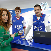 Efes Pilsen's Fan Card during their Turkish Basketball league match Efes Pilsen between MP Trabzonspor at the Sinan Erdem Arena in Istanbul Turkey on Friday 11 March 2011. Photo by TURKPIX