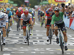 July 20, 2018 - Valence, France - VALENCE, FRANCE - JULY 20 : SAGAN Peter (SVK) of Bora - Hansgrohe wins the stage during stage 13 of the 105th edition of the 2018 Tour de France cycling race, a stage of 169.5 kms between Bourg d'Oisans and Valence on July 20, 2018 in Valence, France, 20/07/2018 (Credit Image: © Panoramic via ZUMA Press)