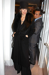 CHRISTINA ESTRADA JUFFALI at a party hosted American House and Garden magazine with Tomasz Starzewski and Nina Campbell to celebrate the British Issue of the magazine, held at 14 Stanhope Mews West, London SW7 on 13th March 2005.<br />