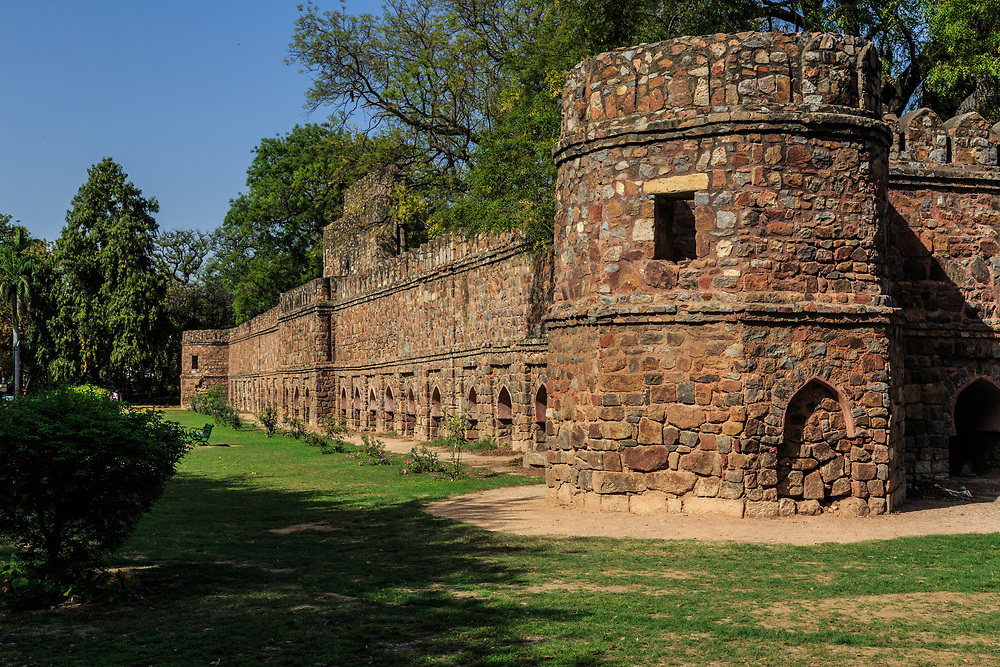 Fortified complex of the Tomb of Sikandar Lodi in New Delhi, India. Sikandar Lodi (born Nizam Khan), was the Sultan of Delhi between 1489 and 1517 CE and was the son of Bahlul Lodi.