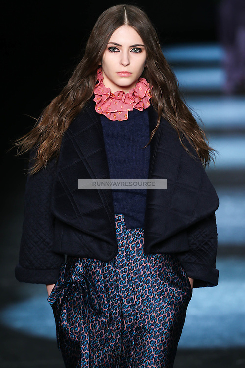 A model walks the runway wearing Monique Lhuillier Fall 2016 during New York Fashion Week on February 13, 2016