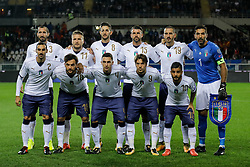 October 6, 2017 - Turin, Italy - Italy national team players pose for the photo during the 2018 FIFA World Cup Russia qualifier Group G football match between Italy and FYR Macedonia at Stadio Olimpico on October 6, 2017 in Turin, Italy. (Credit Image: © Mike Kireev/NurPhoto via ZUMA Press)