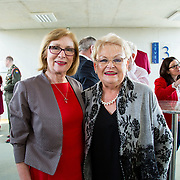 24.03.2017            <br /> Limerick Civic Trust, Marjorie Daly commissioned Jim Kemmy Portrait unveiling by Jan O'Sullivan TD at the Kemmy Business School, University of Limerick. <br /> <br /> Pictured at the event were, Jan O'Sullivan, TD and Margaret O'Donoghue, former secretary for Jim Kemmy. Picture: Alan Place