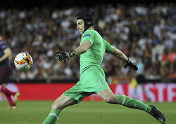 May 9, 2019 - Valencia, Valencia, Spain - Cech of Arsenal in action during UEFA Europa League football match, between Valencia and Arsenal, May 09th, in Mestalla stadium in Valencia, Spain. (Credit Image: © AFP7 via ZUMA Wire)