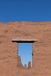 Adobe Structure at Fort Union National Monument in New Mexico
