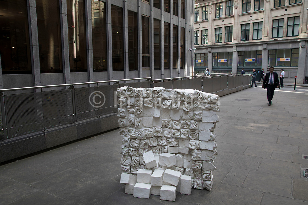Sculpture in the City on July 17th 2017 in the City of London, England, United Kingdom. Each year, the critically acclaimed Sculpture in the City returns to the Square Mile with contemporary art works from internationally renowned artists in a public exhibition of artworks  open to everyone to come and interact with and enjoy. Reminiscence by Fernando Casasempere 2017.