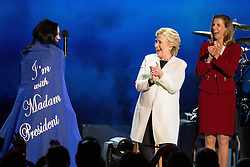 November 5, 2016 - Philadelphia, Pennsylvania, U.S - KATY PERRY, HILLARY CLINTON and KATIE MCGINTY during the ''Love Trumps Hate'' Get Out the Vote campaign at the Mann Center in Philadelphia, Pennsylvania (Credit Image: © Daniel DeSlover via ZUMA Wire)