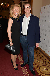 ALIZA REGER and her husband ANDREW CLAREMONT at a party to celebrate the publication of  'I Used to be in Pictures' an untold story of Hollywood by Austin Mutti-Mewse and Howard Mutti-Mewse held at The Lansdowne Club, London on 6th March 2014.
