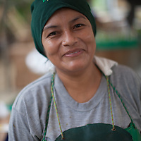 Kelly Juárez, worker in a banana processing plant with the BOS coop in Salitral, Peru.