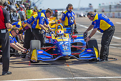March 9, 2019 - St. Petersburg, Florida, U.S. - The Andretti Autosport crew prepare their race car for a practice session for the Firestone Grand Prix of St. Petersburg at The Temporary Waterfront Street Course in St. Petersburg Florida. (Credit Image: © Walter G Arce Sr Asp Inc/ASP)