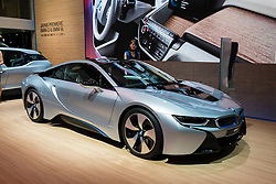 BMW i8 plug-in hybrid  electric car at Tokyo Motor Show 2013 in Japan
