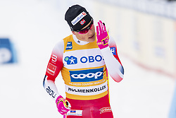 March 9, 2019 - Oslo, NORWAY - 190309 Johannes Høsflot Klæbo of Norway looks dejected after the men's 50 km classic technique during the FIS Cross-Country World Cup on March 9, 2019 in Oslo..Photo: Fredrik Varfjell / BILDBYRÃ…N / kod FV / 150211. (Credit Image: © Fredrik Varfjell/Bildbyran via ZUMA Press)