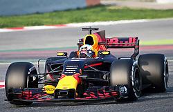 February 27, 2017 - Barcelona, Spain - The RTed Bull of Daniel Ricciardo during the Formula 1 tests held in the Barcelona-Catalunya Circuit, on february 27, 2017. Photo: Urbanandsport/Nurphoto  (Credit Image: © Jordi Galbany/NurPhoto via ZUMA Press)
