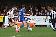 AFC Wimbledon midfielder Anthony Wordsworth (40) dribbling during the EFL Sky Bet League 1 match between AFC Wimbledon and Gillingham at the Cherry Red Records Stadium, Kingston, England on 23 March 2019.