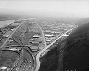 "Ackroyd 18770-1 ""Aerials. March 20, 1974"", ""Guilds Lake"" (Kittridge bridge)"