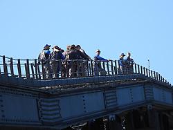 AU_1373694 - Sydney, AUSTRALIA  - Prince Harry climbs the Sydney Harbour Bridge<br /> <br /> Pictured: Prince Harry<br /> <br /> BACKGRID Australia 19 OCTOBER 2018 <br /> <br /> Phone: + 61 2 8719 0598<br /> Email:  photos@backgrid.com.au