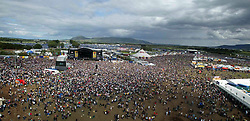 The view from the ferris wheel of the main area as Paolo Nutini plays on the main stage, left, at T in the Park Sunday 8 July 2007, at Balado, Fife...