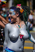 Naked Cyclists at the 2014 Fremont Solstice Parade in Seattle, WA