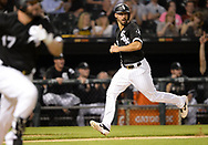CHICAGO - MAY 31:  Seby Zavala #59 of the Chicago White Sox scores his first major league run against the Cleveland Indians on May 31, 2019 at Guaranteed Rate Field in Chicago, Illinois.  (Photo by Ron Vesely)  Subject:  Seby Zavala