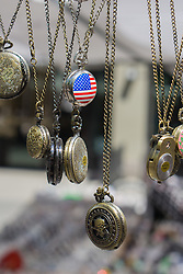 pocket watches made in China at a street fair in New York City