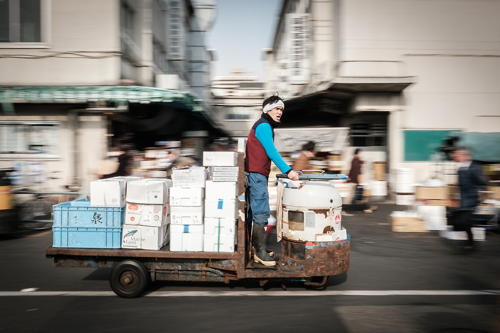 Getting around the soon-to-be-gone Tsukiji Fish Market, Japan