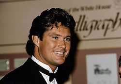 January 1, 1985 - Washington, District of Columbia, U.S - Hollywood actor David Hasselhoff arrives at the White House to attend a state dinner (Credit Image: © Mark Reinstein via ZUMA Wire)