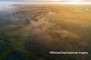63893-03707 Sunrise and fog aerial view Marion Co. IL
