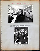 page from a photo album Christmas USA 1945