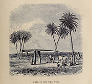 Water Well in the Wed R'hir From the Book ' Great Sahara: wanderings south of the Atlas Mountains. ' by Tristram, H. B. (Henry Baker),  Published by J. Murray in London in 1860