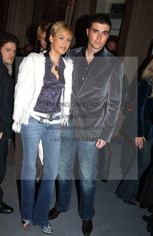 LADY ALEXANDRA SPENCER-CHURCHILL and MR DAVID PEACOCK at a party to celebrate the opening of W'Sens - a new fine french restaurant at 12 Waterloo Place, London SW1 on 10th December 2004.<br /><br />NON EXCLUSIVE - WORLD RIGHTS