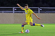 AFC Wimbledon defender Ryan Sweeney (20)  during the Pre-Season Friendly match between Dover Athletic and AFC Wimbledon at Crabble Athletic Ground, Dover, United Kingdom on 12 July 2016. Photo by Stuart Butcher.