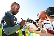 January 28 2016: Indianapolis Colts corner Vonte Davis signs autographs after the Pro Bowl practice at Turtle Bay Resort on North Shore Oahu, HI. (Photo by Aric Becker/Icon Sportswire)
