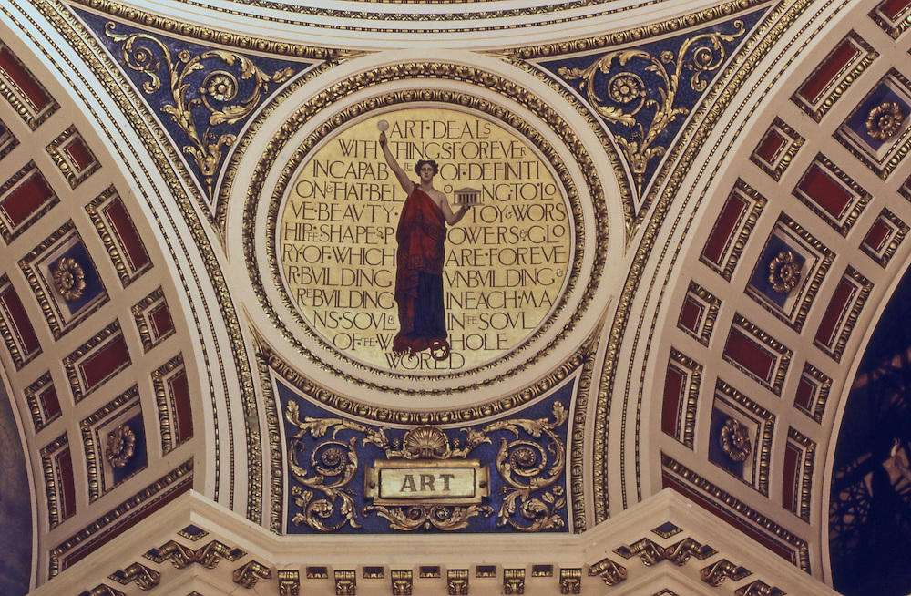 "Pennsylvania Capitol Rotunda. ""Art"" by Edwin Abbey, Harrisburg, Pennsylvania"