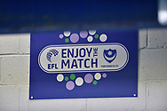 Enjoy the match EFL during the EFL Sky Bet League 1 match between Portsmouth and Blackpool at Fratton Park, Portsmouth, England on 24 February 2018. Picture by Adam Rivers.