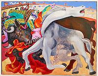 France, Paris (75), Musee Picasso, Corrida : la mort du torero, 1933 // France, Paris, Picasso museum, Bullfight : death of the torero, 1933