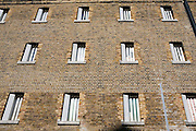 Cell windows. HMP Wandsworth, London, United Kingdom