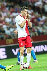 June 10, 2019 - Warsaw, Poland - Robert Lewandowski of Poland during the UEFA Euro 2020 qualifier Group G football match Poland against Israel on June 10, 2019 in Warsaw, Poland. (Credit Image: © Foto Olimpik/NurPhoto via ZUMA Press)