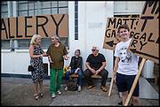KATHRYN KLASSNIK; ROBIN KLASSNIK, ELIZABETH PRICE; BRIAN CATLING, Matt's Gallery 35th birthday fundraising supper.  42-44 Copperfield Road, London E3 4RR. 12 June 2014.