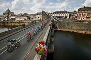 Illustration, Peloton, Bridge, Scenery, Mayenne, during the 105th Tour de France 2018, Stage 7, Fougeres - Chartres (231km) on July 13th, 2018 - Photo Luca Bettini / BettiniPhoto / ProSportsImages / DPPI