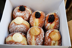 Prince Harry visits Borough Market, which opened yesterday for the first time since the London Bridge terrorist attack in London, UK, on the 15th June 2017. Picture by John Stillwell/WPA-Pool. 15 Jun 2017 Pictured: Prince Harry's Doughnuts. Photo credit: MEGA TheMegaAgency.com +1 888 505 6342