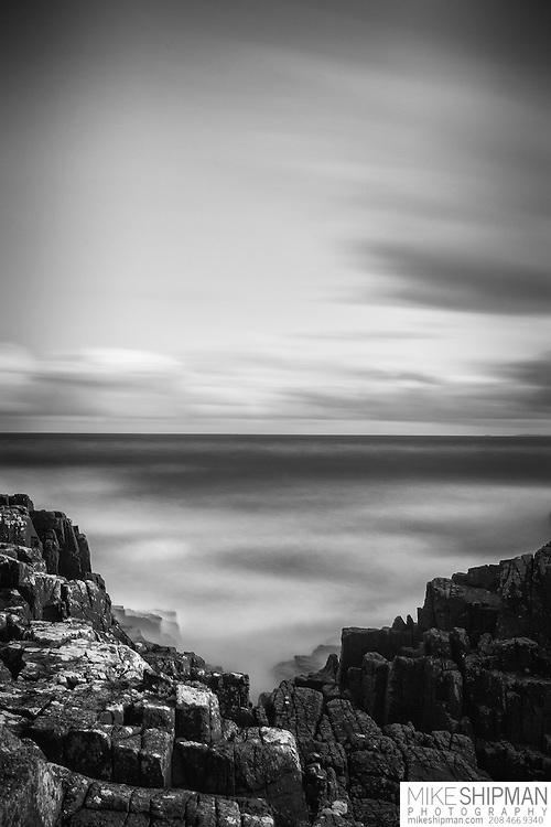 Rocky shore of Neist Point, Isle of Skye, Scotland, UK