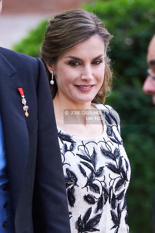Queen Letizia of Spain attended 'Cervantes Award' to Eduardo Mendoza at the Alcala de Henares University on April 20, 2017 in Alcala de Henares, near of Madrid, Spain