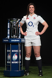 Hurlingham Club, London, January 27th 2016. England Women's Captain Sarah Hartley at the launch of the RBS Six Nations Rugby Tornament. ///FOR LICENCING CONTACT: paul@pauldaveycreative.co.uk TEL:+44 (0) 7966 016 296 or +44 (0) 20 8969 6875. ©2015 Paul R Davey. All rights reserved.