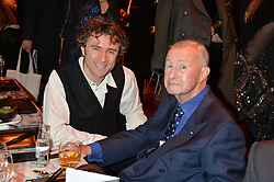 Left to right, THOMAS HEATHERWICK and SIR TERENCE CONRAN at the Liberatum Cultural Honour For Sir Terence Conran Dinner held at the Sanderson Hotel, Berners Street, London on 19th November 2013.